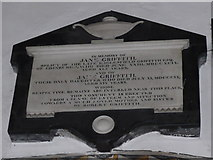 SD3598 : St Michael and All Angels, Hawkshead: memorial (xvii) by Basher Eyre