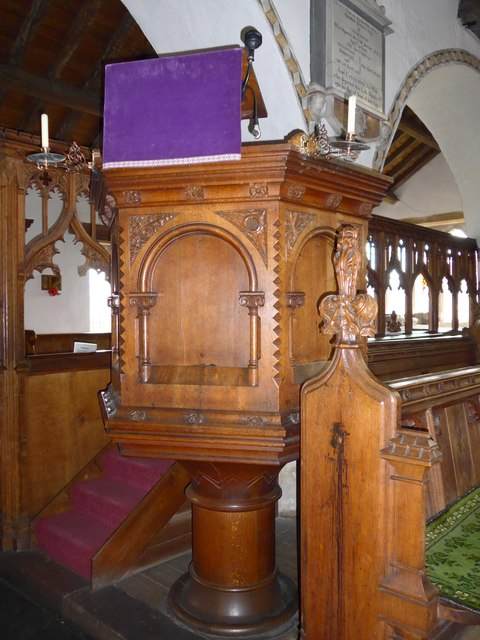St Michael and All Angels, Hawkshead: pulpit