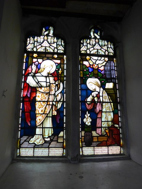 St Michael and All Angels, Hawkshead: stained glass window (II)
