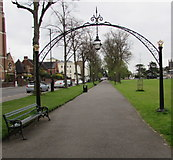 SP3165 : Linden arches, Linden Avenue, Royal Leamington Spa by Jaggery