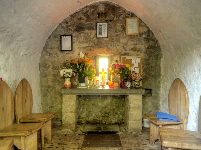 Inside St Trillo's Seafront Chapel