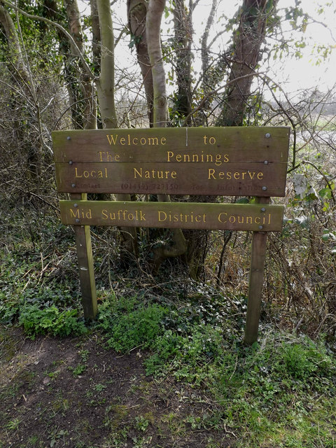 The Pennings Nature Reserve sign
