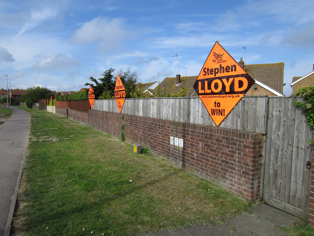 Liberal Democrats banners, Langney Rise