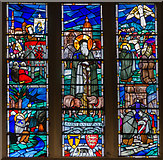 SO5040 : Stained glass window, All Saints' church, Hereford by Julian P Guffogg
