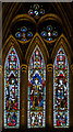 SO5039 : Stained glass window, Hereford Cathedral by Julian P Guffogg