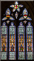 SO5139 : Stained glass window, Hereford Cathedral by Julian P Guffogg