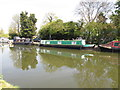 TQ1783 : Goosander 3 - narrow boat on Paddington Arm, Grand Union Canal by David Hawgood