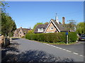 SO9645 : Junction of School Lane with High Street showing school by Jeff Gogarty