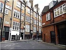 TQ2880 : The back streets of Mayfair by Christine Johnstone