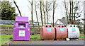 J2766 : Recycling bins, Lambeg (April 2015) by Albert Bridge