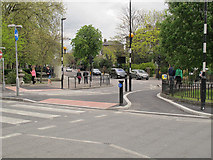 TQ4077 : Start of new cycle lane at the Royal Standard by Stephen Craven