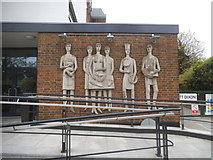 TQ1779 : Mural outside the University of West London by David Howard