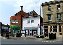 TF0920 : Historic shop premises at Bourne, Lincolnshire by Rex Needle