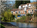 SK5539 : Houses beside the Nottingham Canal at Lenton by Stephen McKay