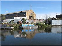 TQ2282 : Lucky Chance - narrowboat on Paddington Arm, Grand Union Canal by David Hawgood