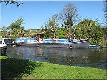 TQ2282 : Nelly - narrowboat on Paddington Arm, Grand Union Canal by David Hawgood