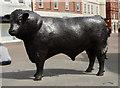 SO5140 : Hereford Bull sculpture by Julian P Guffogg