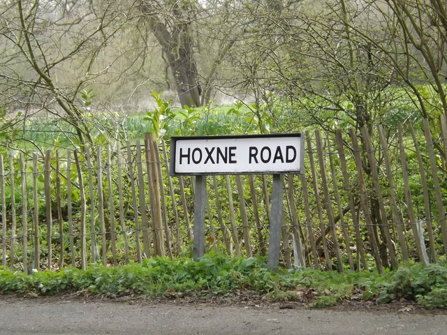Hoxne Road sign