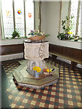 TM2373 : Font of All Saints Church by Adrian Cable