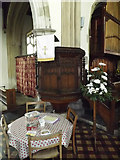 TM2373 : Pulpit of All Saints Church by Adrian Cable