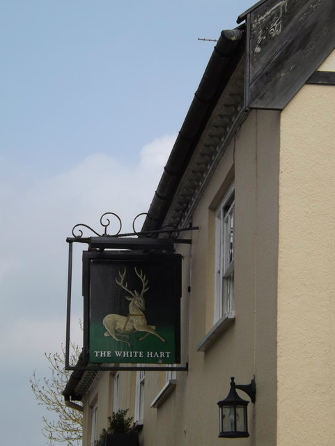 The White Hart Public House sign