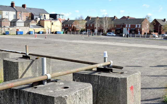 Vacant site, Posnett Street, Belfast (April 2015)
