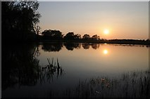 SO8843 : Sunset over Croome River by Philip Halling