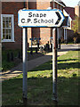 TM3958 : Roadsign on the B1069 Church Road by Geographer