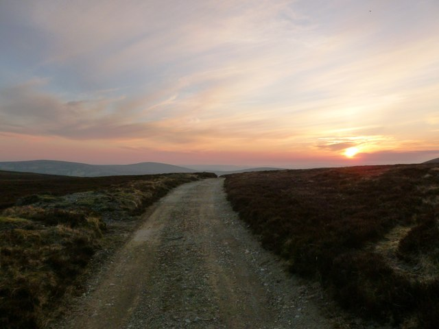 Track across grouse moor, Broad Law