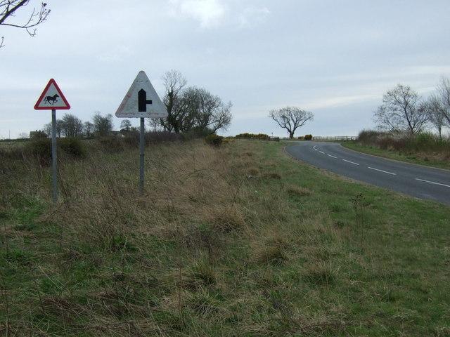 Minor road towards Widdrington Station