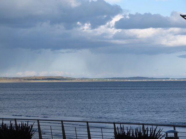 Shower over Tyrella Beach