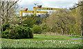 "J3575 : ""Samson"" and ""Goliath"", Belfast (April 2015) by Albert Bridge"