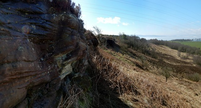 Red sandstone outcrops
