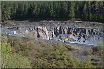 SH8010 : Stone quarry on Y Grug by Nigel Brown