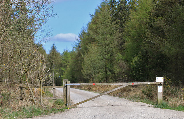 Gated track from Brown Howe Road
