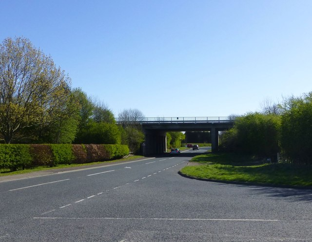 B6524 passes under the A1