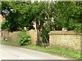 SK7327 : Garden wall at Old Hall Farmhouse by Alan Murray-Rust
