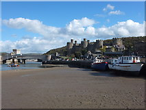 SH7877 : Conwy at low tide by Richard Hoare