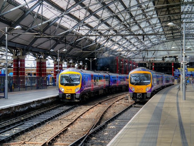 First TransPennine Express Trains at Liverpool Lime Street