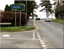 ST3091 : Corner of Malpas one mile from the M4 motorway, Newport by Jaggery