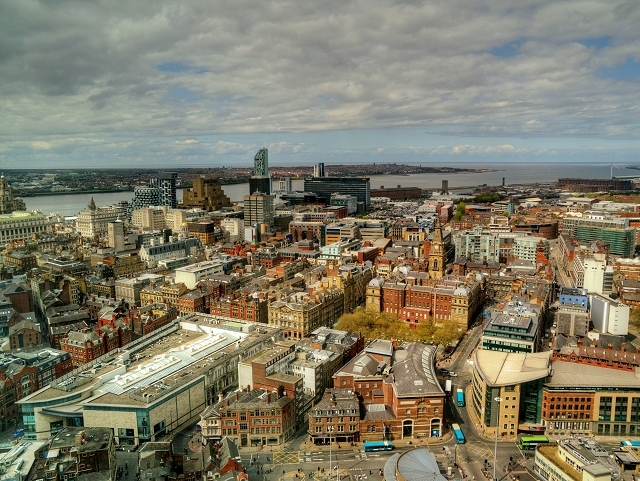 Liverpool Cityscape from Radio City Viewing Tower (St John's Beacon)