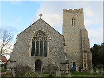 TM1469 : All Saints Church at Thorndon by Peter Wood