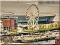 SJ3489 : View from St John's Beacon - Liverpool Wheel and Echo Arena by David Dixon