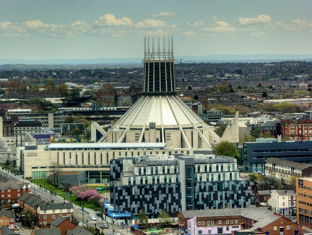 View from St John's Beacon -  Liverpool Metropolitan Cathedral