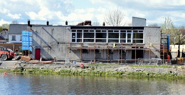 Queen's University boathouse, Stranmillis, Belfast (April 2015)