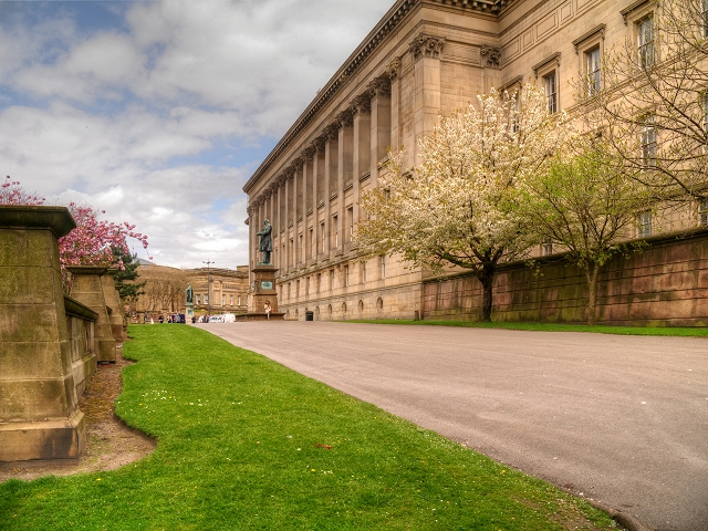 Liverpool, St John's Gardens and St George's Hall