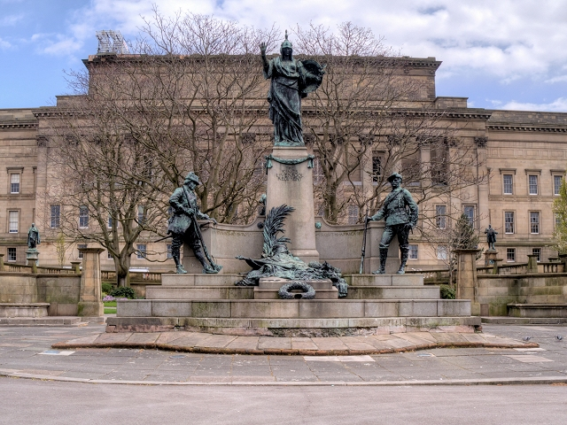 Monument to the King's Liverpool Regiment, Liverpool in St John's Gardens