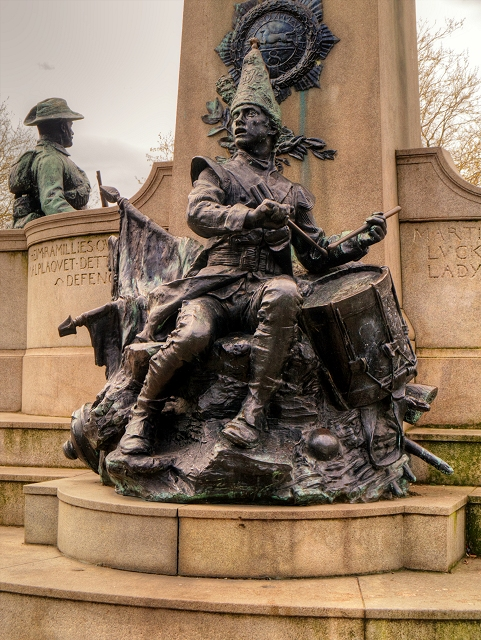 Drummer Boy, Monument to the King's Liverpool Regiment, Liverpool in St John's Gardens