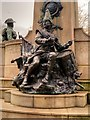 SJ3490 : Drummer Boy, Monument to the King's Liverpool Regiment, Liverpool in St John's Gardens by David Dixon