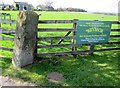 SE1884 : Gate  Post  at  High  Jervaulx  Farm  with  O/S  Benchmark by Martin Dawes